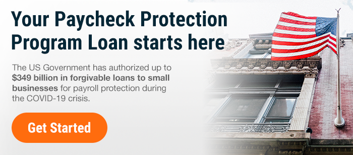 Your Paycheck Protection Program Loan starts here. The US Government has authorized up to $349 billion in forgivable loans to small businesses for payroll protection during the COVID-19 crisis. Get Started.