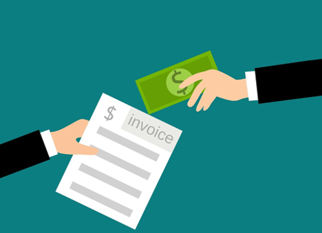 illustration of an invoice in exchange for money